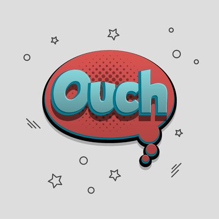 Comic text speech bubble pop art design