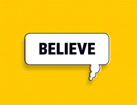 Believe speech bubble banner pop art memphis style Vektorgrafik
