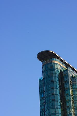 Modern building against the sky  photo