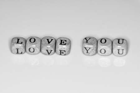 Letter cubes spelling Love you