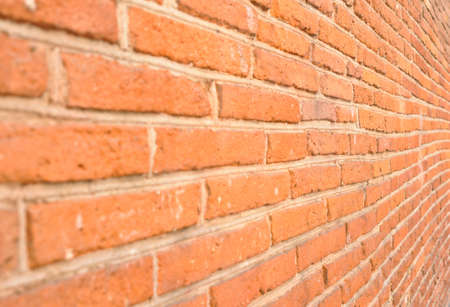 Unusual photograph of brick wall in the city of Toulouse