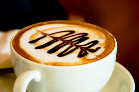 Nice cup of mocha with beautiful chocolate topping