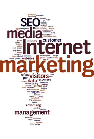 emarketing: Internet maketing text cloud