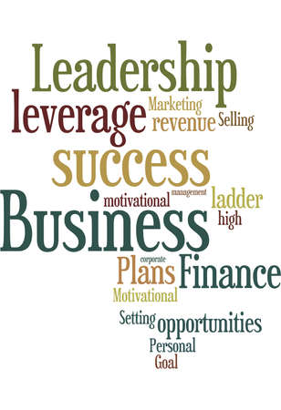 leverage: Business talk word cloud