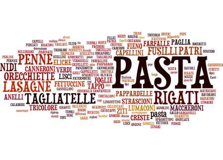 italian pasta: Tipos de nube de texto de pasta