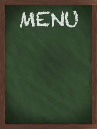 Green menu blackboard with empty space Stock Photo