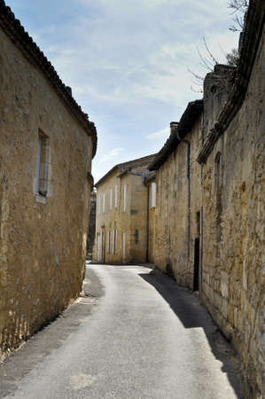 Old stone houses in St Emilion photo
