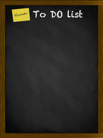 To do list with yellow note on a framed blackboard