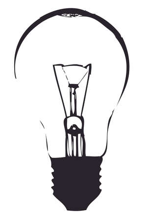 Light bulb vector outline