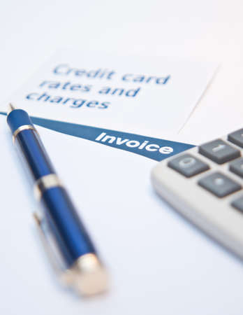 Debt situation with credit rates, invoice and calculator