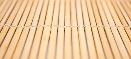 Closeup of a bamboo mat Stock Photo