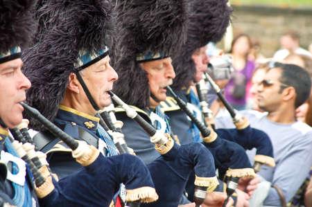 edinburgh: Edinburgh Festival 2009: Scottish Pipers at the Parade Editorial