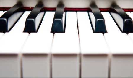 Closeup of piano keys Stock Photo