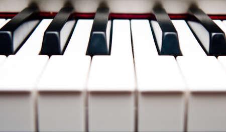 Closeup of piano keys Stock Photo