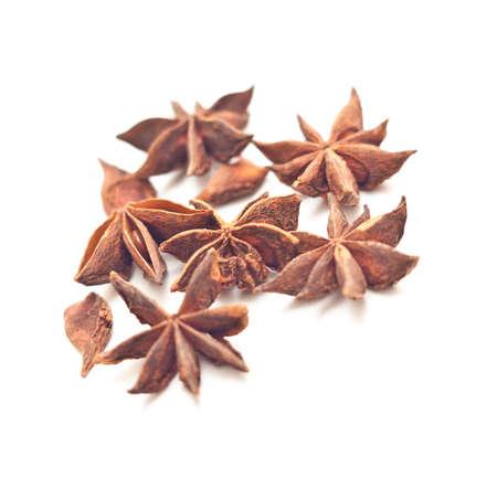 Anise stars on white background Stock Photo - 9071381