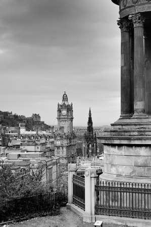 View of Edinburgh city from Calton Hill, Scotland