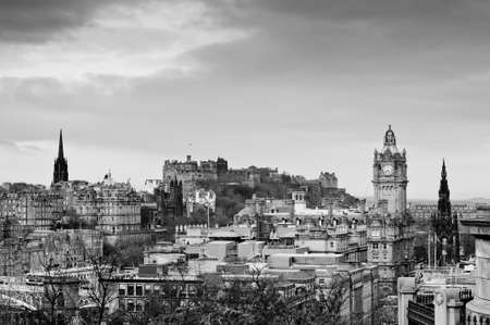 View of the Edinburgh city skyline, Scotland Stock Photo