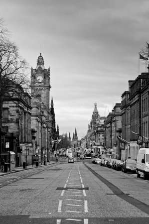 Edinburgh city, Princes Street from Waterloo place Stock Photo