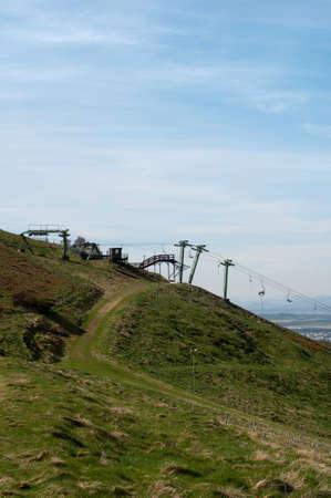 Edinburgh artificial ski slope on a Pentland hill