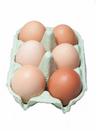 Six eggs in a box Stock Photo - 9490849