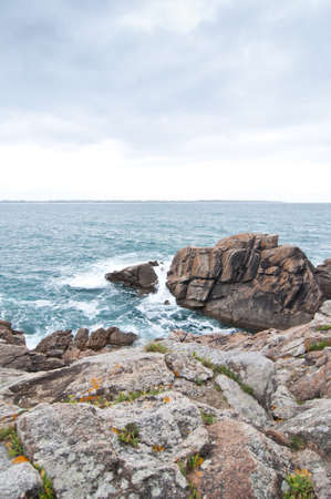 Sea and Rocks on Brittany coast Stock Photo - 10233372