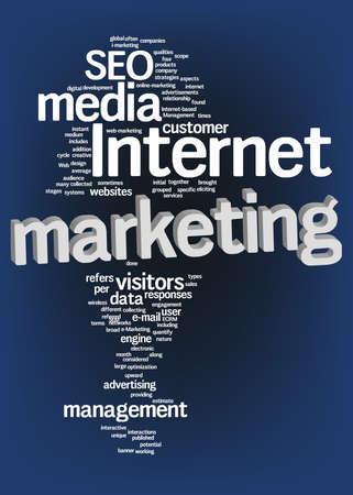 Internet marketing text cloud Stock Photo - 12899963