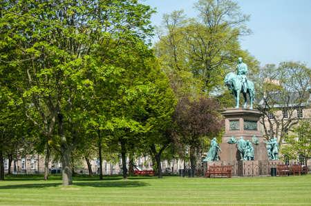 Statue of Prince Albert in the centre of Charlotte Square, Edinburgh Stock Photo