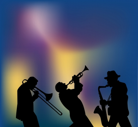 Jazzmusici Stock Illustratie