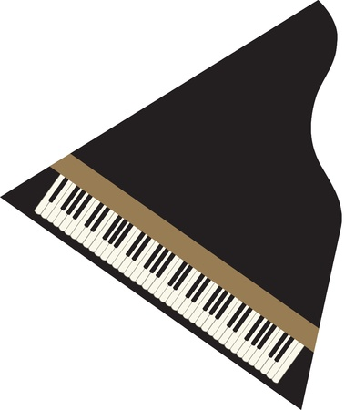 Grand-piano from above Vector