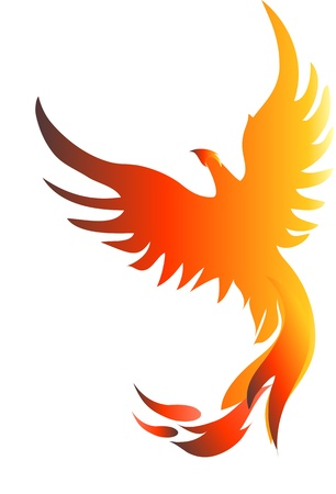 mythical phoenix bird: Rising Phoenix