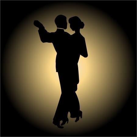 bailarines silueta: Baile lento