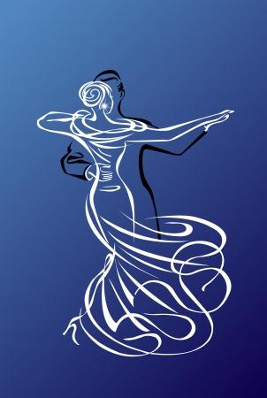 танцор: Бальные танцы Иллюстрация