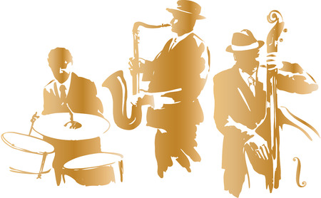 Jazz trio Vector