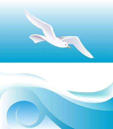 turquoise swirl: Sea theme Backdrop Illustration