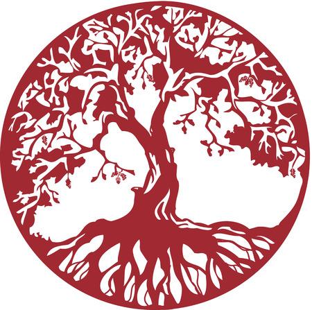 oak tree silhouette: Oak tree