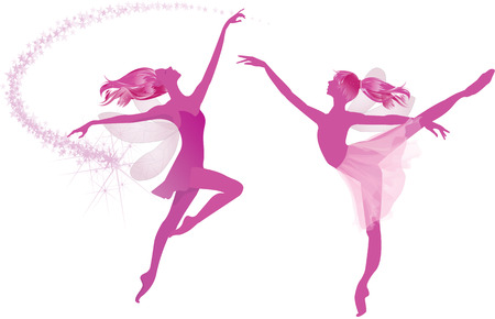 Pink fairies dancing