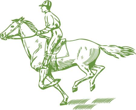 Gallop on run  イラスト・ベクター素材