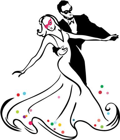 Carnival dancers  イラスト・ベクター素材