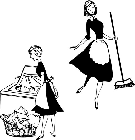 household chores: Cleaning ladies