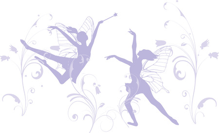ballet dancing: Dancing fairies Illustration
