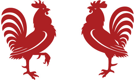 Red rooster Vector