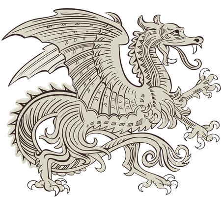 vikingo: Dragón Vectores