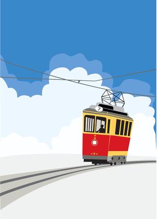 tramcar: Streetcar Illustration