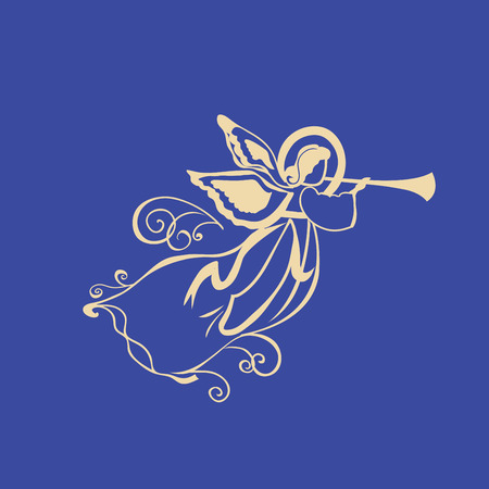 Angel with a trumpet Illustration