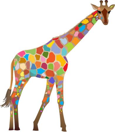 Colourful Giraffe