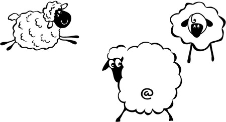 baa: Sheep cartoon style Illustration
