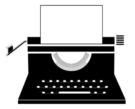 scriptwriter: Retro manual typewriter Illustration