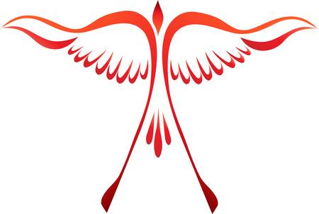 ave fenix: Phoenix estilizada creciente