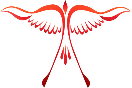 Stylized phoenix rising