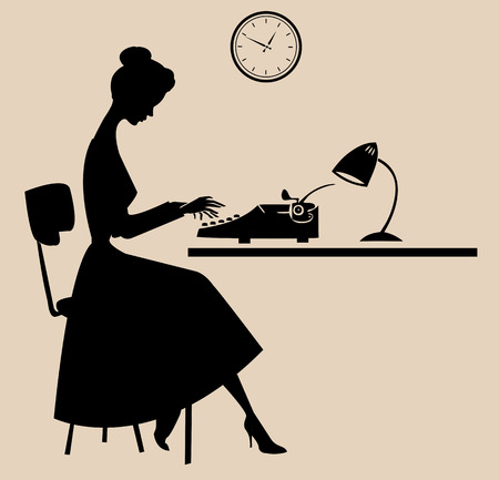 typewriter: Retro style typist